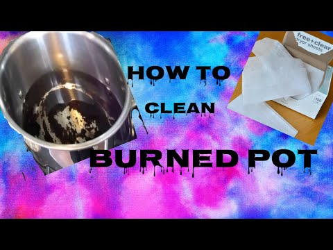 How Clean A Burned Pot Easy