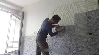 televizyon arkası doğal taş nasıl uygulanır