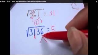 Akar Kuadrat Cara Paling Cepat - Jurus 7 Detik Matematika Paman APIQ