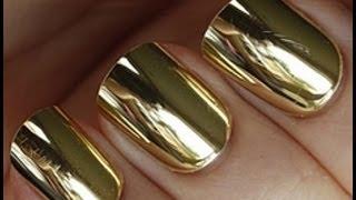 Ценителям золота посвящается... Зеркальный золотой маникюр!