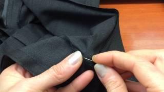 как подшить брюки вручную Часть2