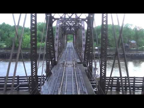 Amtrak Ride Empire Builder Mississippi River Crossings - 6/23/14