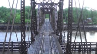 Amtrak Ride Empire Builder Mississippi River Crossings - 6/23/14