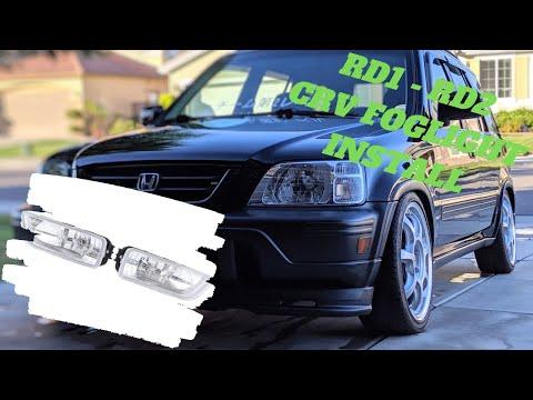 RD1 - RD2 Honda Crv custom fog light install