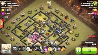 Clash of Clans iluminados BR® GUERRA PERFEITA PT EM CV 10 com CV 9.