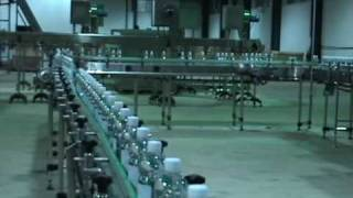 bottled water filling plant start up day to case packer