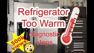Refrigerator Too Warm - Diagnostic Steps