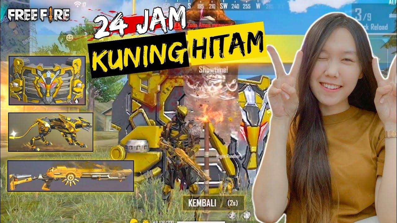 RATAKAN CLOCK TOWER PAKE SERBA KUNING HITAM  - FREE FIRE INDONESIA