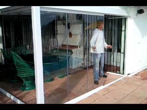 Moveable Roof Glass Curtains Flying Door Mp4 Youtube