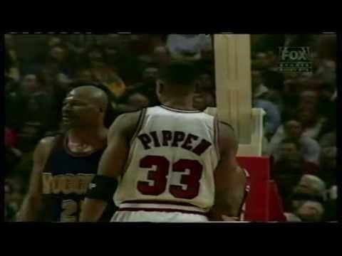 Scottie Pippen 47 pts, season 96/97 bulls vs nuggets