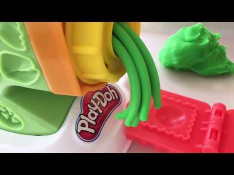 Фабрика Play Doh, макаронная фабрика пластилина Плейдо. Игры с пластилином