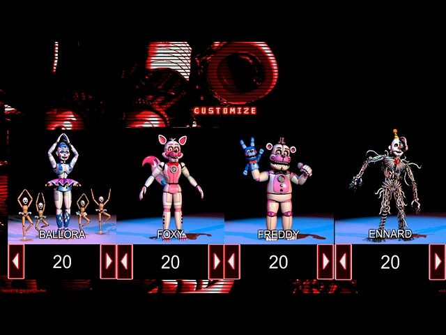 Fnaf 5 sister location custom night
