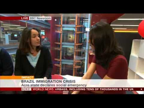 Brazil migration crisis - BBC World News