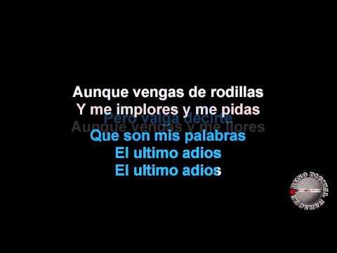 El Ultimo Adios Al Estilo De Paulina Rubio Karaoke Version