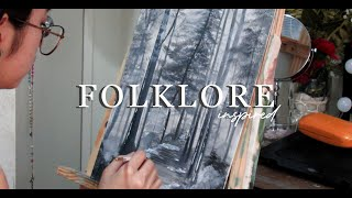 Paint with me I folklore by taylor swift inspired ♡