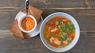 Готовим с Тинкой-Суп с семгой