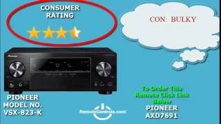 Review Pioneer AV Receiver Featuring 3D and 4K Ultra HD 5.1 Channel - VSX-823-K