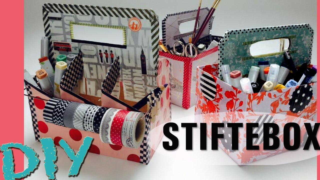 diy stiftebox schreibtisch aufbewahrung washi tapes. Black Bedroom Furniture Sets. Home Design Ideas