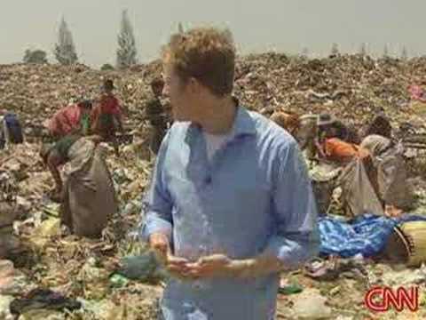 Orphan living in garbage dump