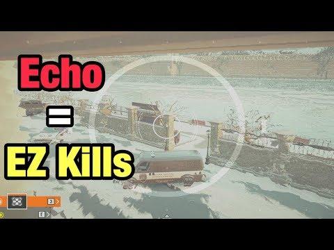 The Easiest Way to Spawn Peek w/ Echo - Rainbow Six Siege