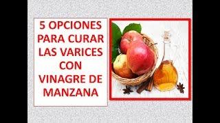 Tratar sidra venas varicosas de manzana vinagre de las