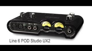 line 6 pod studio ux2 vs scarlett 2i2 guitar test