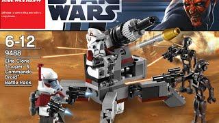 Обзор на лего звёздные войны  Elite Clone Trooper & Commando Droid Battle Pack 9488