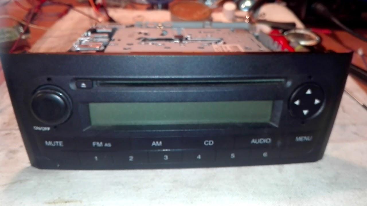 Fiat Grande Punto Radio F 199 SM2 CD  CanCheck  Radio Code  Delphi Grundig
