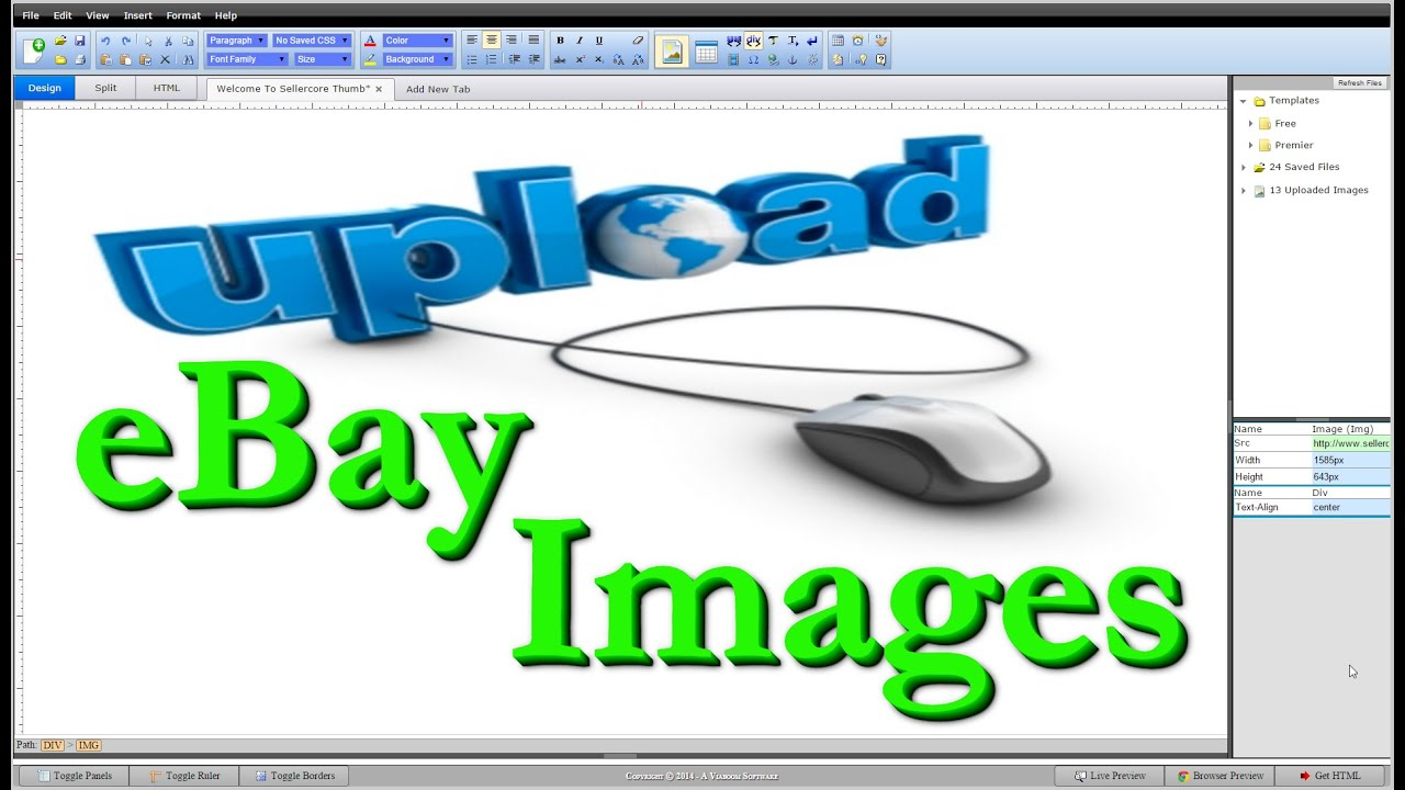 Image Hosting How To Upload Images Online For EBay Templates YouTube - Ebay background templates