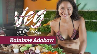 "How to cook easy Vegan Adobong Gulay aka ""Rainbow Adobow"" Veg on the Edge"