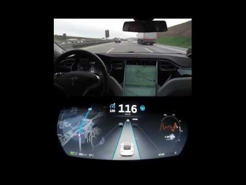 Tesla Model S - Autopilot in Stuttgart - (TABLETVERSION !!!)