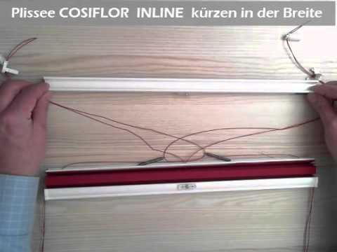 plissee cosiflor inline in der breite k rzen youtube. Black Bedroom Furniture Sets. Home Design Ideas
