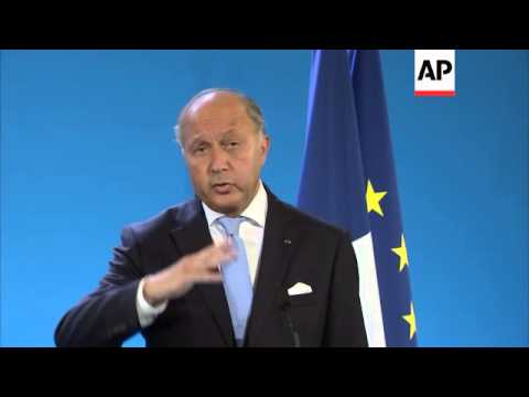 FMs Al-Jafaari and Fabius comment on fight against Islamic State group