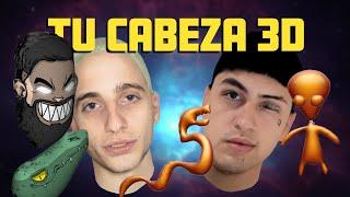 Tu Cabeza 3D Gratis y Online - Pruebo con Wos y Tiago