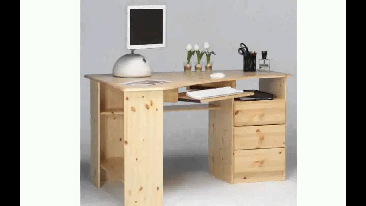 Escritorios en madera youtube for Mueble para computadora