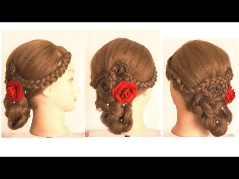 How To Make Superb Wedding Braided Updo / Hairdo / Bun For Long And Medium Hair | Hairstyle Tutorial