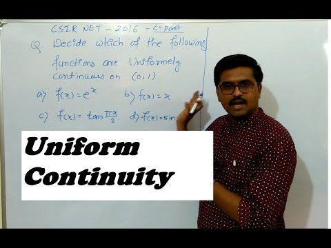 CSIR NET mathematics 2016|Uniform Continuity|Real Analysis