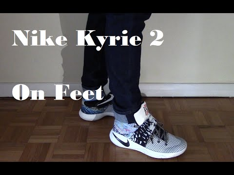 newest 2ae8d 44c5a Nike Kyrie 2 On Feet - YouTube