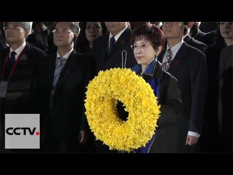 KMT chairwoman Hung Hsiu-chu visits Sun Yat-sen