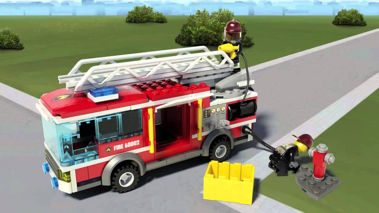 Lego City Camión de bomberos 60002 en Eurekakids - YouTube
