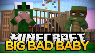 Minecraft BIG BAD BABY - HELLO NEIGHBOR HAS A NEW SCARY BABY SITTER - FREDDY FAZBEAR MOVES IN!!