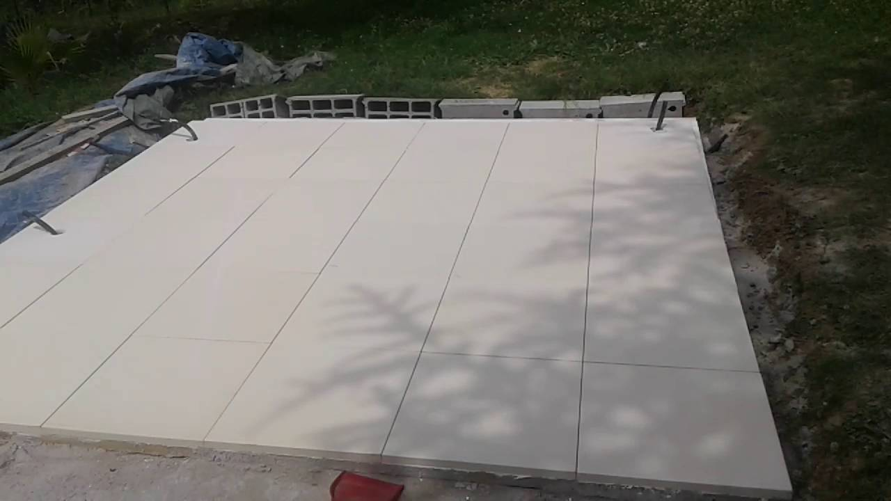 Laying A Jacuzzi Stone Base In The Garden Youtube