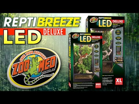 Zoo Med Reptibreeze 174 Led Deluxe Youtube