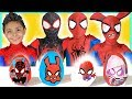NEW Spiderman into the Spider-Verse Play-doh Surprise Eggs kids toys video superheroes Miles Morales