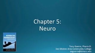 (CC) Top 200 Drugs Chapter 5 Neuro / Mental Health Pharmacology by Suffix (Memorizing Pharmacology)