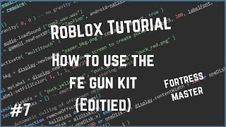 Roblox Wie man die FE Gun Kit EDITED VERSION verwendet