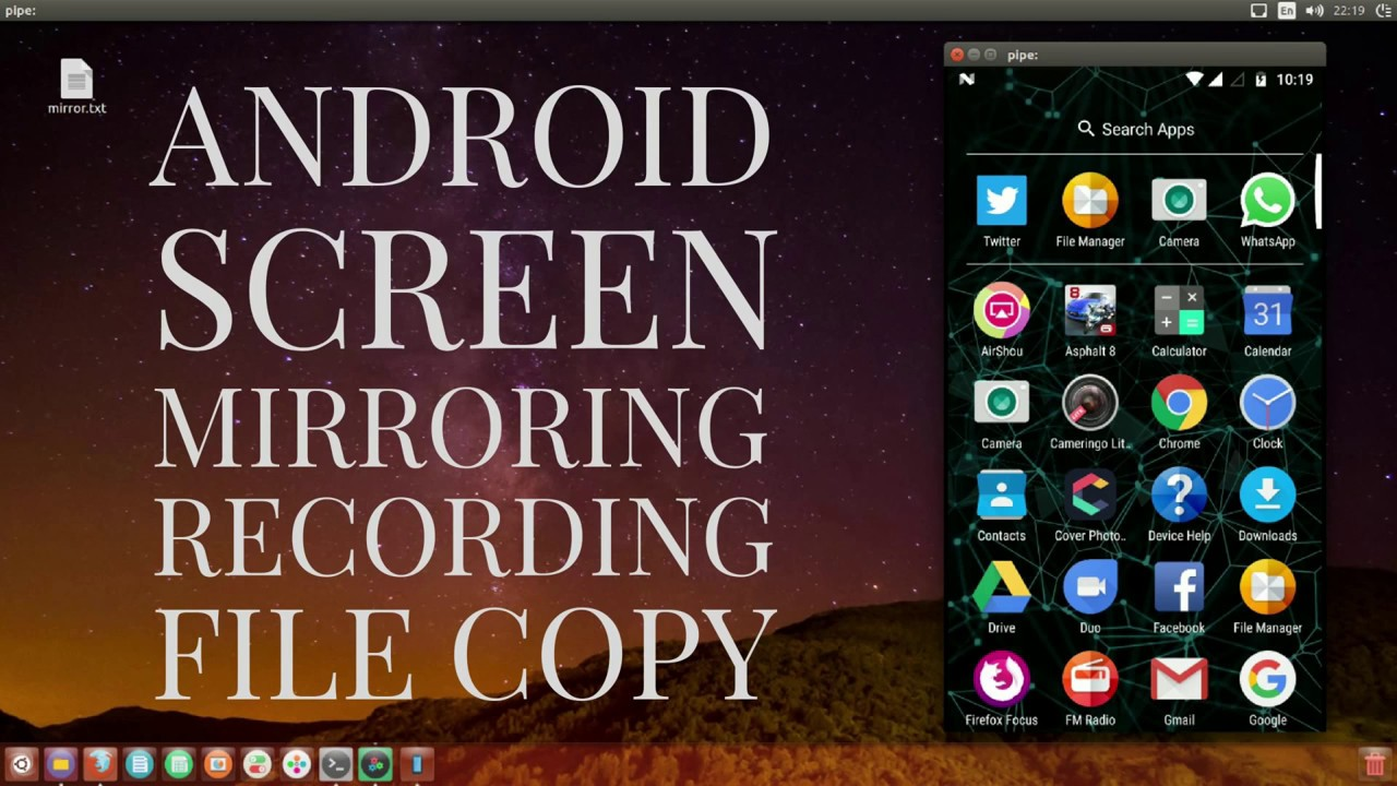 How to Mirror, Record and perform file copying in Android using ADB