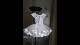 Праздничный наряд, юбка-пачка из фатина с атласными лентами / TUTU tu-tu