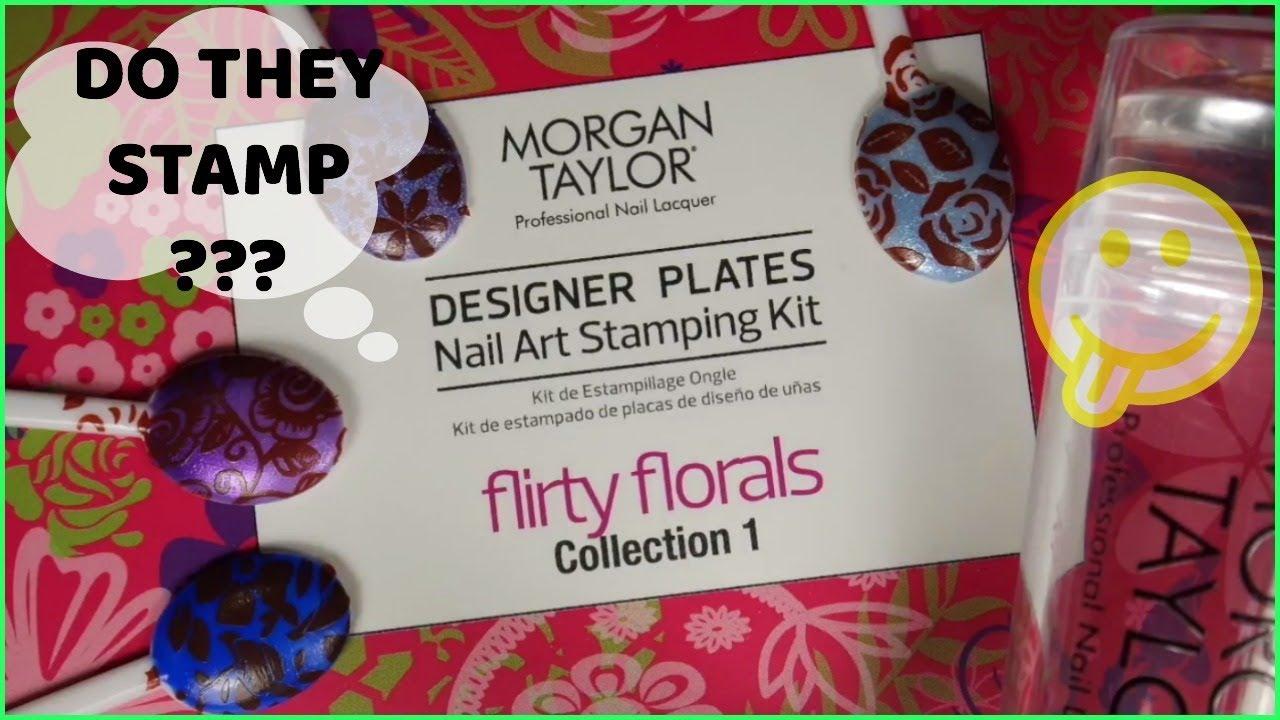 Nail Art Stamping - Morgan Taylor Flirty Floral stamping kit review ...
