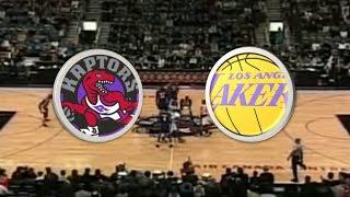 Toronto Raptors (12-11) VS Los Angeles Lakers (16-9) | 2000-2001 | NBA